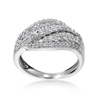 SummerRose 14k White Gold 5/8ct TDW Diamond Fashion Ring