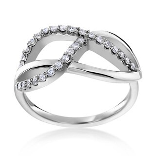 SummerRose 14k White Gold 1/3ct TDW Diamond Fashion Ring