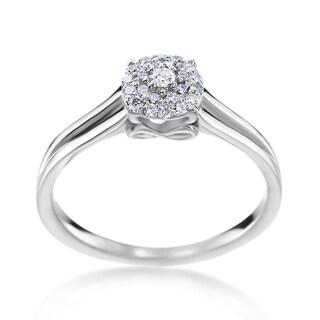 SummerRose 14k White Gold 1/5ct TDW Diamond Fashion Ring