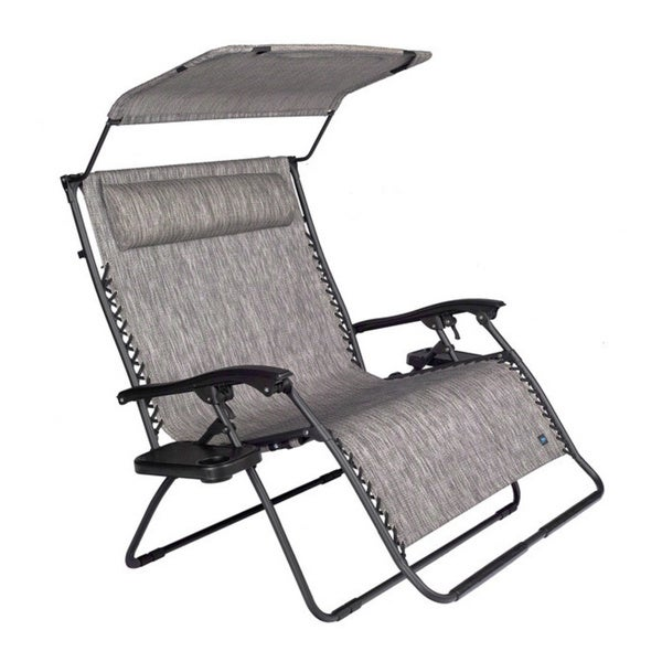 Shop Extra Large 2 Person Gravity Lounge Chair With Canopy
