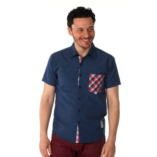 Something Strong Men's 'Something Stifling' Solid Shirt in Blue