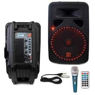 Mr. DJ PP3500 15-inch 2500W Bluetooth Speaker with Microphone and Wireless Remote