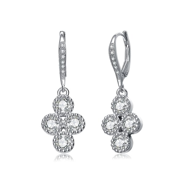 588a4fcdf Shop Collette Z Sterling Silver Elegant Dangle Earrings - On Sale ...