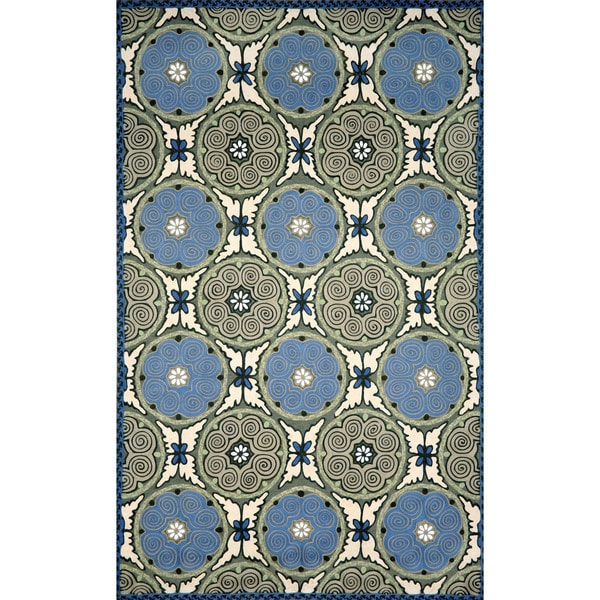 Liora Manne Ornamental Circles Outdoor Rug (3'6 x 5'6) - 3'6 x 5'6