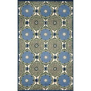 Ornamental Circles Outdoor Rug (3'6 x 5'6)