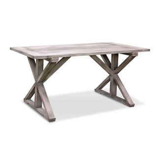 East At Main's Meridian Grey Rustic Dining Table - Brown
