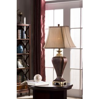 Table Lamps Coffee / Brown Finish (Set of 2)