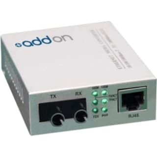AddOn 100Base-TX To 100Base-FX ST MMF 1310nm 2km Media Converter
