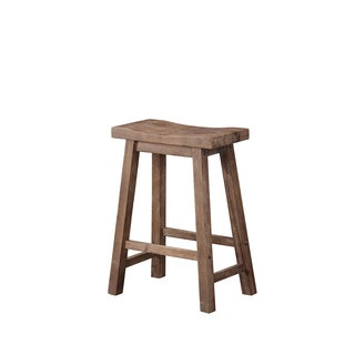 Sonoma Wire-brush Saddle Stool