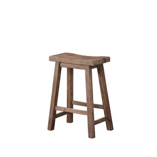 Link to The Gray Barn Vermejo Wire-brush Saddle Stool Similar Items in Dining Room & Bar Furniture
