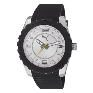 PUMA Men's PU103091003 Cross silver Analog watch