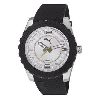 PUMA Men's PU103091003 Cross silver Analog watch