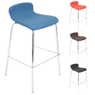 Fabric Stacker Stackable Barstool - Set Of 3