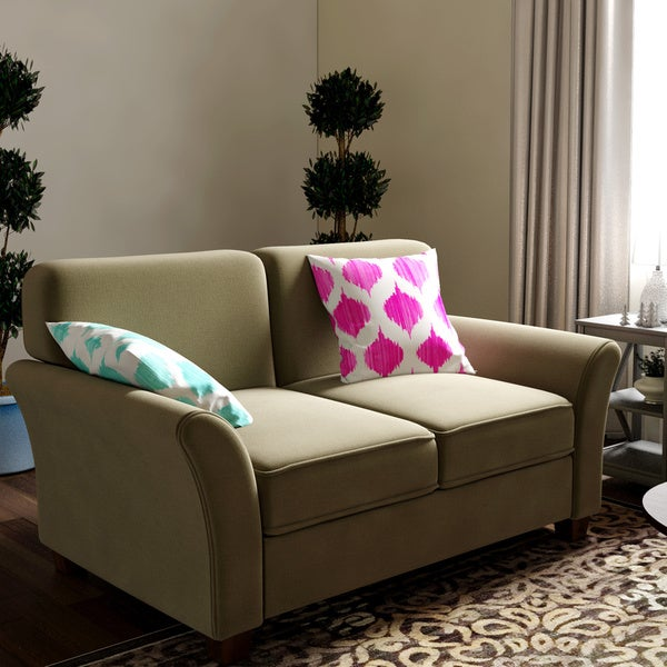Shop Sofab Muse Ii Love Seat With Two Toss Pillows Free