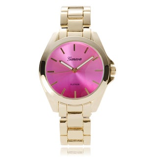 Geneva Platinum Women's Color Change Link Band Watch