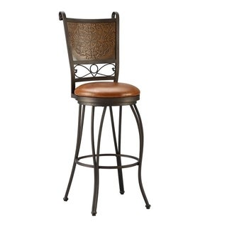 Powell Bailey Stamped Back Bar Stool, 30 Seat Height