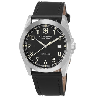 Swiss Army Men's V241586 'Infantry' Black Dial Black Leather Strap Swiss Automatic Watch