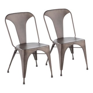 Pair of Austin Industrial Dining Chairs