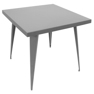 Porch & Den Bryson Village Jo-Dell Industrial Square Metal Dining Table (3 options available)