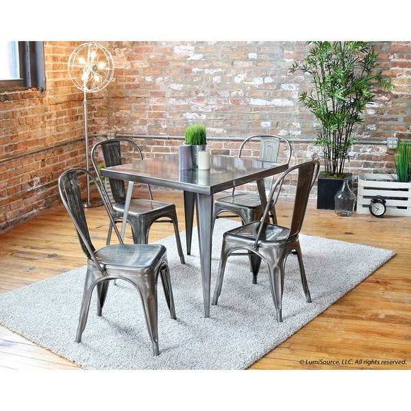 Austin Metal Industrial Dining Table X Free Shipping - Industrial dining room chairs
