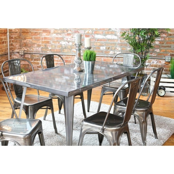 Austin Industrial Metal Dining Table Free Shipping Today