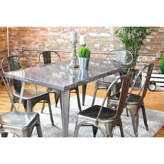 Carbon Loft Swan Industrial Metal Dining Table - Free Shipping Today ...