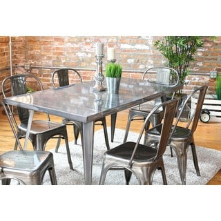 austin industrial metal dining table - Metal Kitchen Table