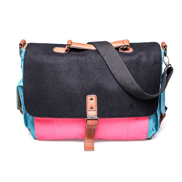 4e18821f6245 Shop Something Strong Color Block Tablet Messenger Bag - Free ...