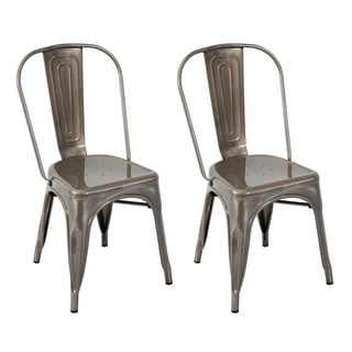 Oregon Silver Clear Coat Dining Chair - Set of 2