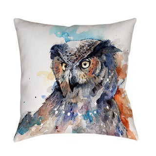 Horned Owl - Decorative Pillow