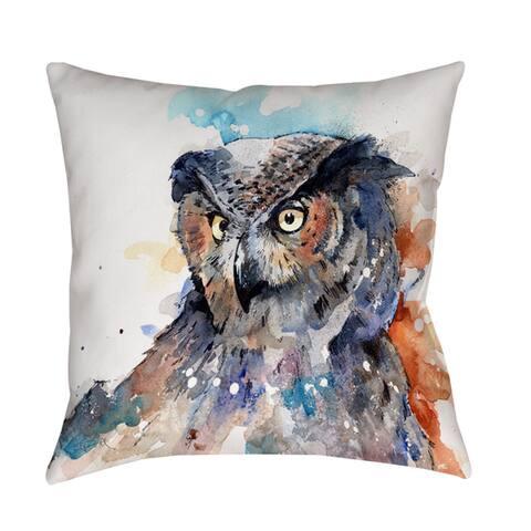 Horned Owl - Decorative Pillow
