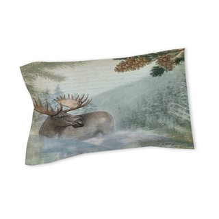 Thumbprintz Conifer Lodge Moose Sham