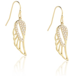 Dolce Giavonna Sterling Silver Cubic Zirconia Dangling Earrings