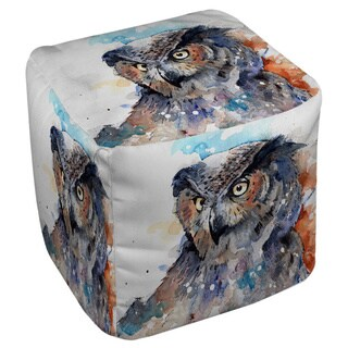 Thumbprintz Horned Owl Pouf