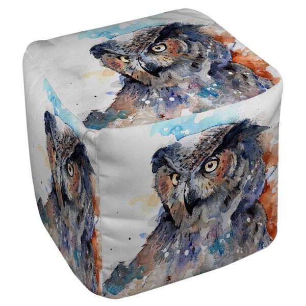 Horned Owl Pouf
