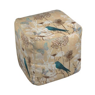The Gray Barn Ivy Hollow Polyester Bird Pouf