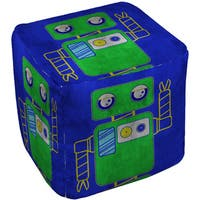Neon Party Blue Robot - Pouf