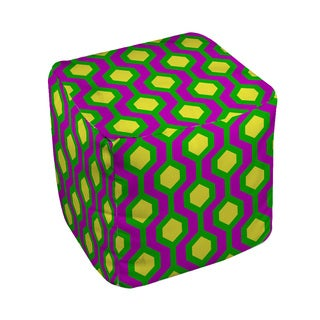Neon Party Honeycomb Pattern - Pouf