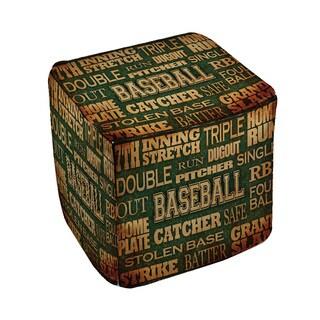 Thumbprintz Baseball Words - Pouf