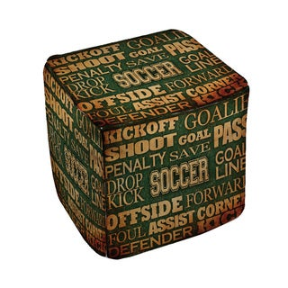 Thumbprintz Soccer Words - Pouf