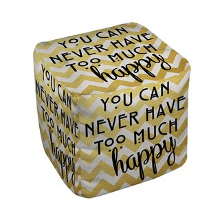 Thumbprintz Never Too Much Happy II Pouf