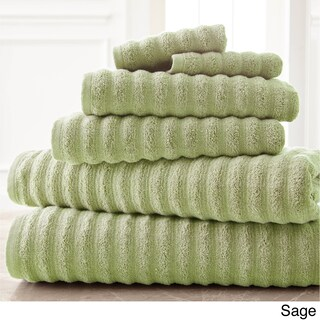 Amraupur Overseas Wavy Luxury Spa Collection 6-piece Quick Dry Towel Set (More options available)