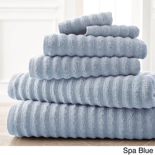 Amrapur Overseas Wavy Luxury Spa Collection 6-piece Quick Dry Towel Set