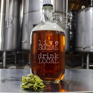 Drink Local Craft Beer Growler