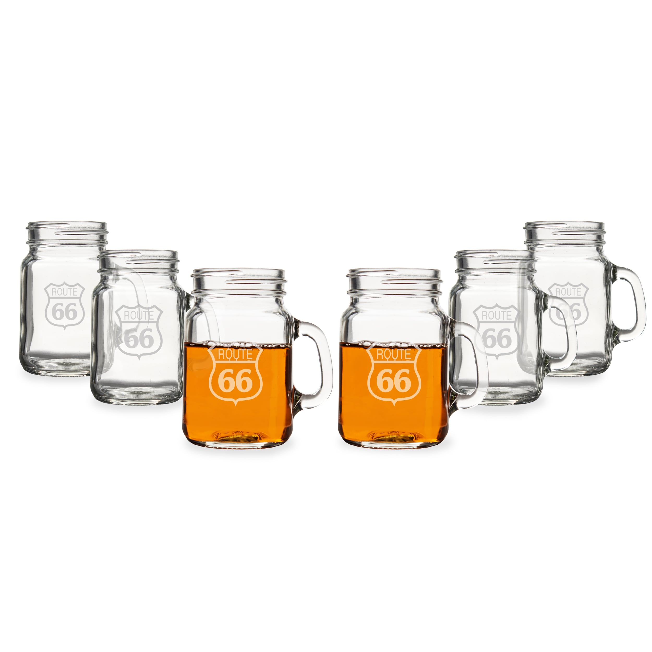 Cathy's Concepts Route 66 Mini Drinking Jar Shot Glasses ...