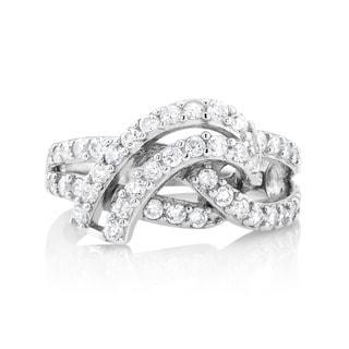 Sterling Silver Cubic Zirconia Designer Ring