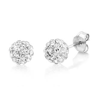 Sterling Silver 6mm Round Crystal Ball Stud Earrings|https://ak1.ostkcdn.com/images/products/10122823/P17261067.jpg?impolicy=medium