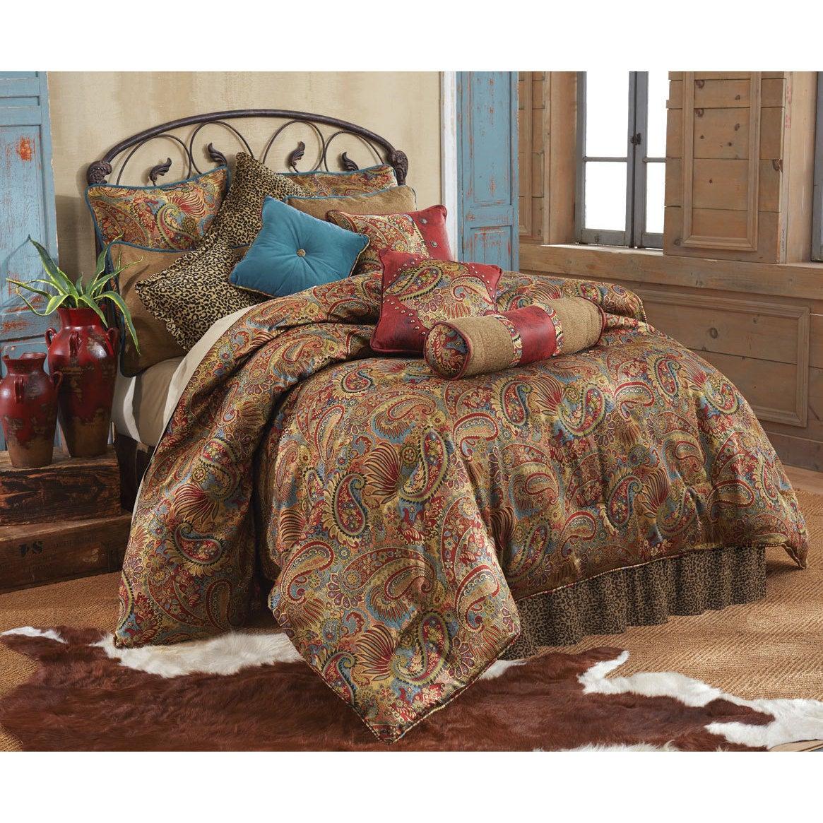 HiEnd Accents San Angelo 4-piece Comforter Set (Brown - 3...