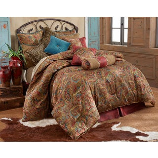 hiend accents san angelo 4piece comforter set option brown