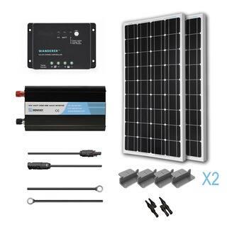 Renogy Complete Solar Kit: 200W Monocrystalline 12V https://ak1.ostkcdn.com/images/products/10122924/P17261107.jpg?impolicy=medium